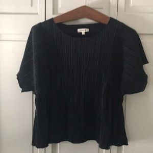 Madewell Black Blouse/ Top Size M